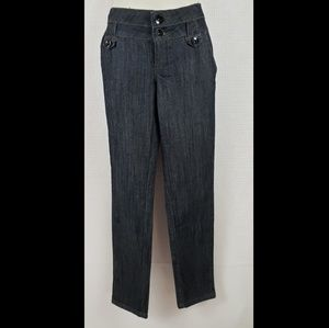 Boom Boom straight leg Black denim jeans size 7